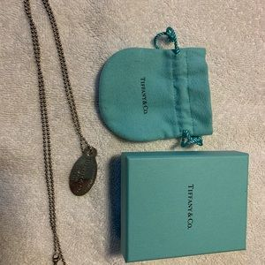 Tiffany dog tag necklace authentic